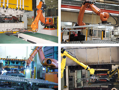 Metal Stamping Robotics Load/Unloading Movement Automation